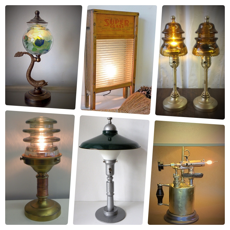 Miscellaneous custom lamps from The Lamp Repair Shop